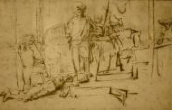 """ציור """"השיפוט"""" מאת רמברנדט, מלון הריץ´-קרלטון"""