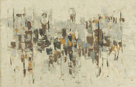 מודזלביץ אפרים. (1931-1995). מופשט 60 שמן על בד 58×40 חתום