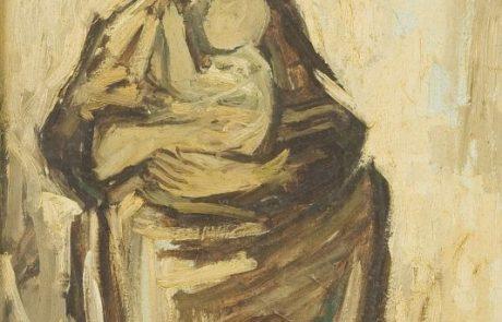 מונטנייז קרלוס 1921 2008 , אימהות , שמן על בד 40×50 חתום