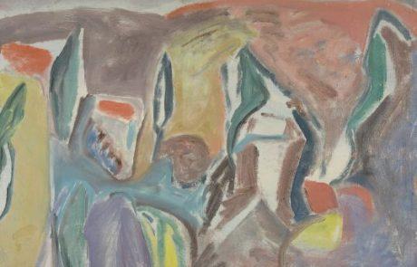 אורי שטטנר (1935. 1999) הרי ירושלים , שמן על בד 82×62 חתום.