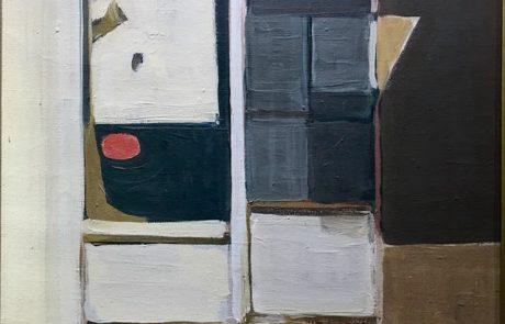 שמואל טפלר (1918 1998) בתים בתל אביב שנות ה -80 שמן על בד 50×40 חתום