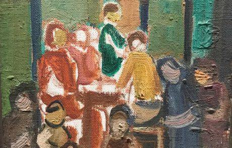 אהרון גלעדי (גולודץ), ( 1993-1907.) ילדים , שמן על בד 27×24 חתום