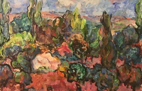חנה לוי ( 1914 2006) שמן על בד 81×65 חתום נוף